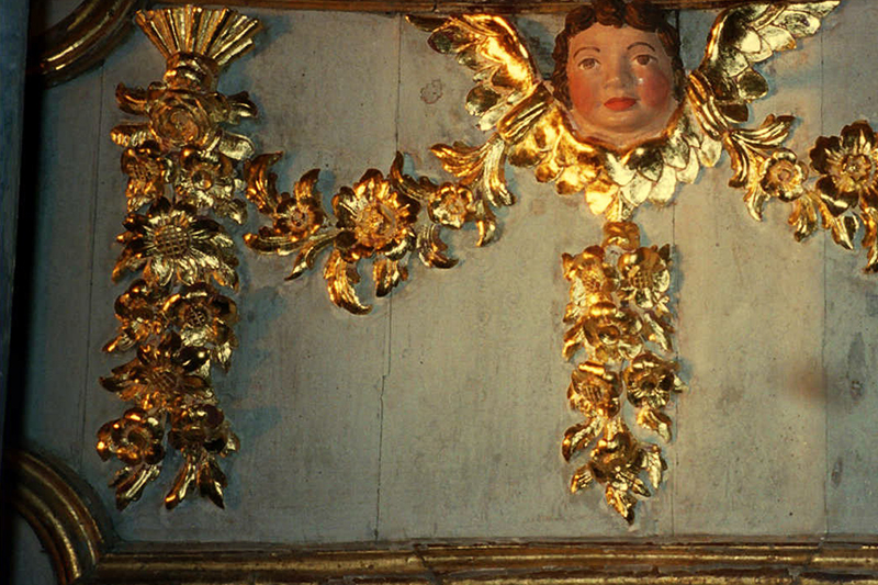 angel after gilding and repair