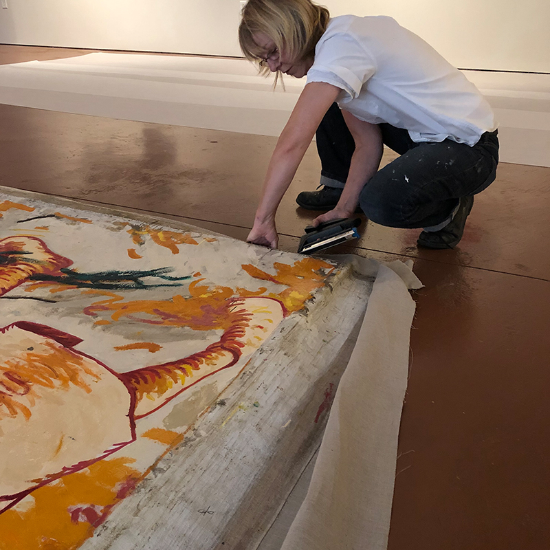 zimmerly installation at smithsonian, christyl cusworth conservation